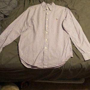 🔥🔥Ralph Lauren purple & white button down shirt